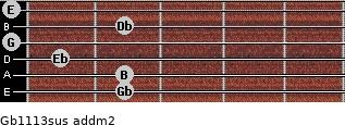 Gb11/13sus add(m2) guitar chord