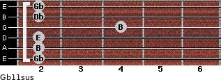 Gb11sus guitar chord