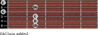 Gb11sus add(m2) guitar chord