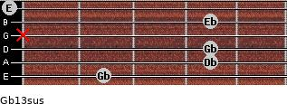 Gb13sus guitar chord