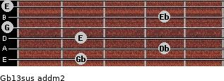 Gb13sus add(m2) guitar chord