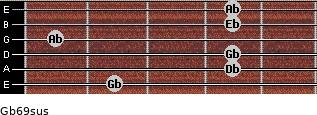 Gb6/9sus guitar chord