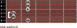 Gb6 add(m3) guitar chord