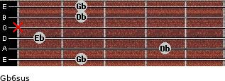 Gb6sus guitar chord