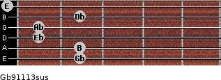 Gb9/11/13sus guitar chord