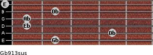 Gb9/13sus guitar chord