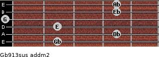 Gb9/13sus add(m2) guitar chord
