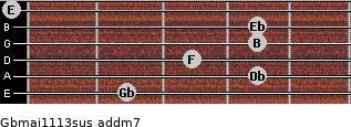 Gbmaj11/13sus add(m7) guitar chord