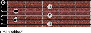 Gm13 add(m2) guitar chord