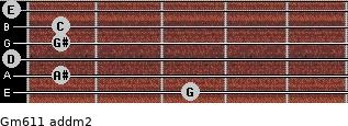 Gm6/11 add(m2) guitar chord