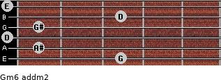 Gm6 add(m2) guitar chord