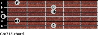 Gm7\13 for guitar on frets 3, 1, 0, 3, 3, 1