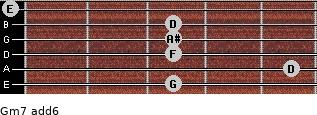 Gm7(add6) for guitar on frets 3, 5, 3, 3, 3, 0