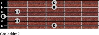 Gm add(m2) guitar chord