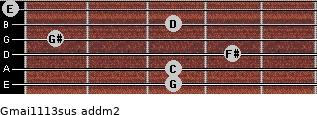 Gmaj11/13sus add(m2) guitar chord