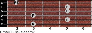 Gmaj11/13sus add(m7) guitar chord