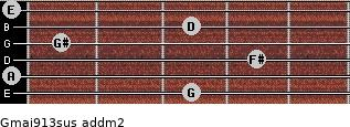 Gmaj9/13sus add(m2) guitar chord