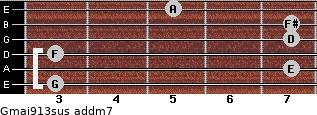 Gmaj9/13sus add(m7) guitar chord