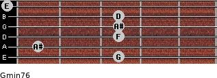 Gmin7/6 for guitar on frets 3, 1, 3, 3, 3, 0