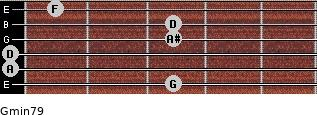 Gmin7/9 for guitar on frets 3, 0, 0, 3, 3, 1