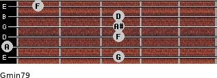 Gmin7/9 for guitar on frets 3, 0, 3, 3, 3, 1