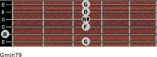 Gmin7/9 for guitar on frets 3, 0, 3, 3, 3, 3