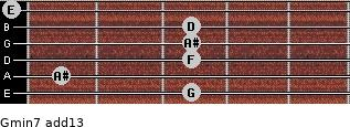 Gmin7(add13) for guitar on frets 3, 1, 3, 3, 3, 0