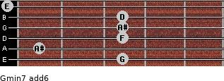 Gmin7(add6) for guitar on frets 3, 1, 3, 3, 3, 0