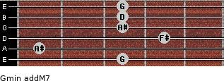 Gmin(addM7) for guitar on frets 3, 1, 4, 3, 3, 3