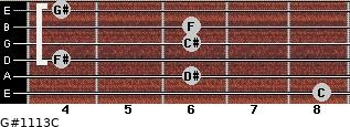 G#11/13/C for guitar on frets 8, 6, 4, 6, 6, 4