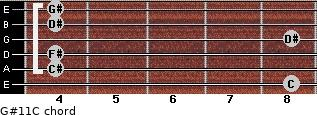 G#11/C for guitar on frets 8, 4, 4, 8, 4, 4