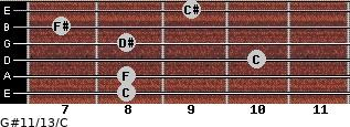 G#11/13/C for guitar on frets 8, 8, 10, 8, 7, 9