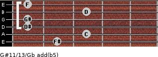 G#11/13/Gb add(b5) guitar chord