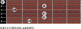 G#11/13b5/Gb add(#5) guitar chord