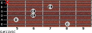 G#11b5/C for guitar on frets 8, 5, 6, 6, 7, x