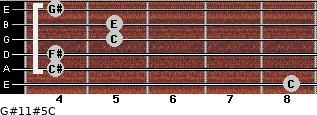 G#11#5/C for guitar on frets 8, 4, 4, 5, 5, 4