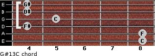 G#13/C for guitar on frets 8, 8, 4, 5, 4, 4