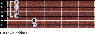 G#13/Gb add(m3) guitar chord