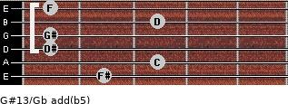 G#13/Gb add(b5) guitar chord