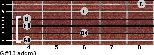 G#13 add(m3) for guitar on frets 4, 6, 4, 4, 6, 8