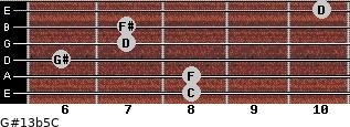 G#13b5/C for guitar on frets 8, 8, 6, 7, 7, 10