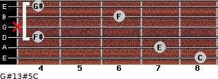G#13#5/C for guitar on frets 8, 7, 4, x, 6, 4