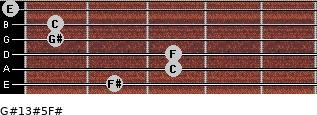 G#13#5/F# for guitar on frets 2, 3, 3, 1, 1, 0