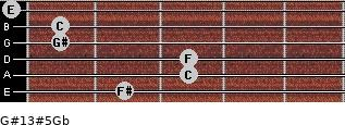 G#13#5/Gb for guitar on frets 2, 3, 3, 1, 1, 0