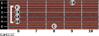 G#6/11/C for guitar on frets 8, 6, 6, 6, 6, 9