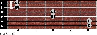 G#6/11/C for guitar on frets 8, 8, 6, 6, 4, 4