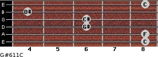 G#6/11/C for guitar on frets 8, 8, 6, 6, 4, 8
