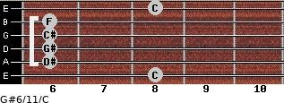 G#6/11/C for guitar on frets 8, 6, 6, 6, 6, 8