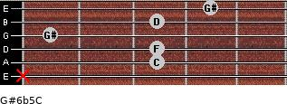 G#6b5/C for guitar on frets x, 3, 3, 1, 3, 4
