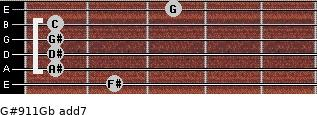 G#9/11/Gb add(7) guitar chord